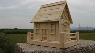 Làm nhà gỗ từ que kem | Nhà mô hình