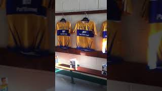 Clare dressing room at Innovate Wexford Park