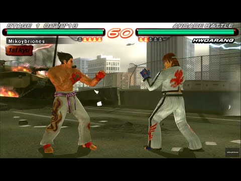 Tekken 6 Kazuya Mishima Arcade Mode Psp Gameplay Hd Youtube
