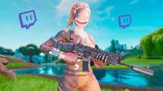 Killing Twitch Streamers with RARE SKINS (with reactions) - Fortnite Battle Royale (#1)