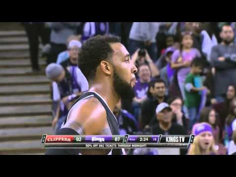 Derrick Williams back to back alley-oop dunks Kings-Clippers 11-29-13