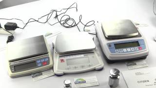 NTEP Approved Class 2 weighing devices A&D EK1200i, Ohaus Scout SJX1502 & Citizen CZ1200