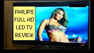 Philips 40 inch Full HD LED TV Unboxing and Review Philips TV Review 1920 1080p 4000 Series