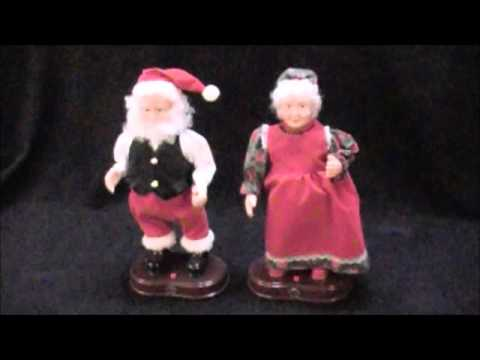 Gemmy Dancing Claus Couple Interactive Christmas Display