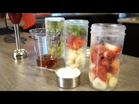 Mason Jar Smoothies (In The Kitchen: Healthy Breakfast)