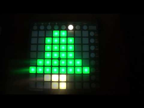 DJ Snake - Bird Machine (feat. Alesia) [Jingle Bells Version] Launchpad Light Show