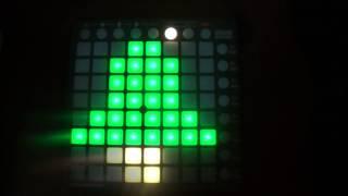 DJ Snake - Bird Machine (feat. Alesia) [Jingle Bells Version] Launchpad Light Show