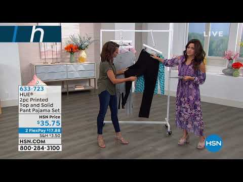 85d8d2589d HUE 2piece Printed Top and Solid Pant Pajama Set - YouTube