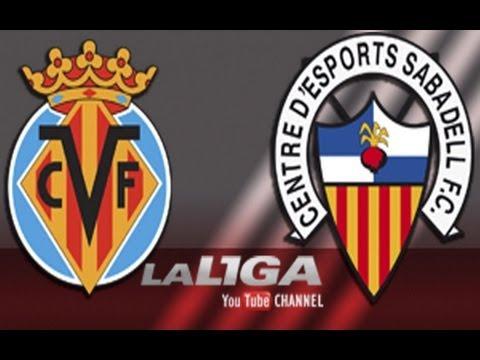 Gol de Cani en el Villarreal CF (2-0) CE Sabadell - HD