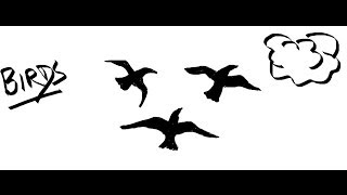 Easy Kids Drawing Lessons : How to Draw Flying Birds