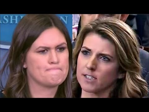 Reporter Grills Sarah Sanders & she starts FUMING when asked on Trump & Mueller Russia Investigation