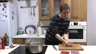 Паста мясная с овощным соусом