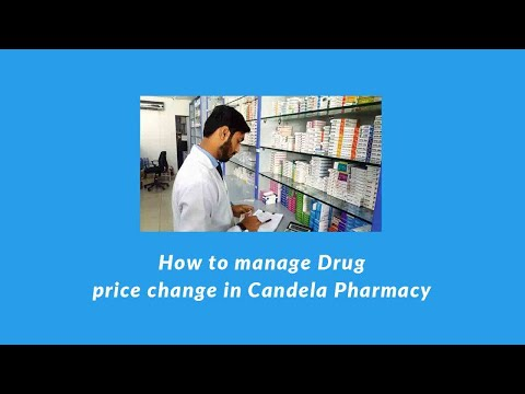 How To Manage Drug Price Change In Candela Pharmacy