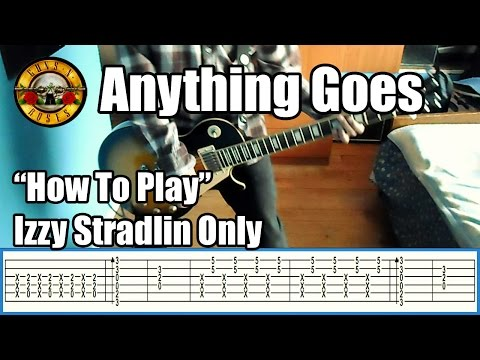 Guns N' Roses Anything Goes IZZY STRADLIN ONLY with tabs | Rhythm guitar