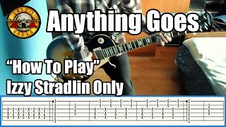 Gambar cover Guns N' Roses Anything Goes IZZY STRADLIN ONLY with tabs | Rhythm guitar