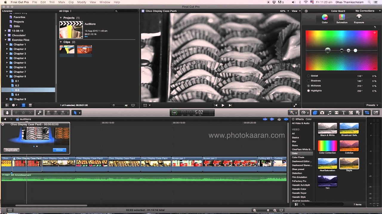 Download Tamil Tutorial - FCP X _Audition effects