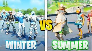 the SUMMER vs WIΝTER Fortnite FASHION SHOW...