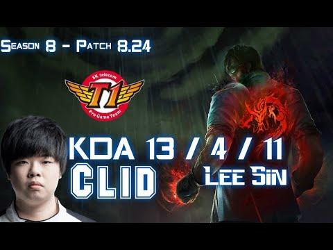 SKT T1 Clid LEE SIN vs ELISE Jungle - Patch 8.24 KR Ranked