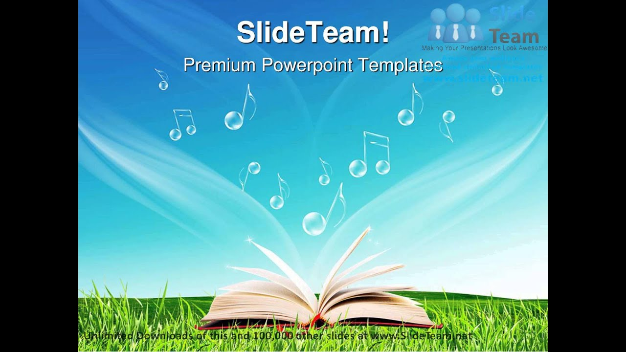 magic book music notes nature powerpoint templates themes