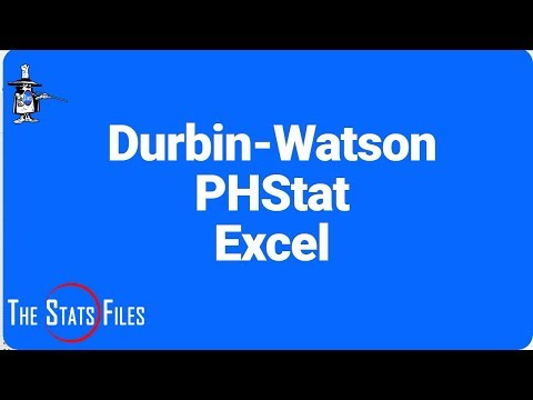 Durbin Watson Statistic Using Excel