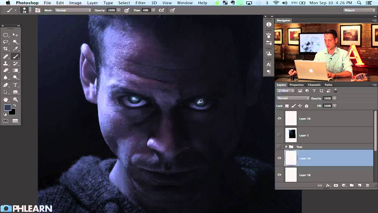 creating a movie poster in photoshop riddick part 2