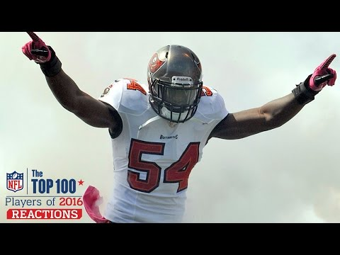 Lavonte David Reacts to #53 & Racing Gerald McCoy | Top 100 Players of 2016 Reaction | NFL Network