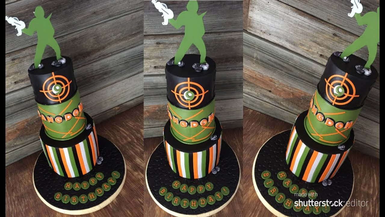 Making A Laser Tag Cake Youtube