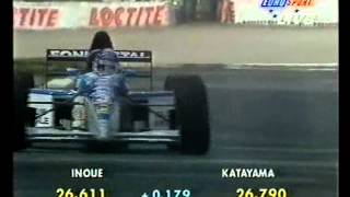 Ukyo Katayama (Tyrrell 023) qualifying run - 1995 Italian Grand Prix