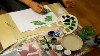 Хризантема из ткани своими руками - Урок №2. Цветы из ткани