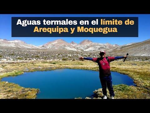 Aguas termales en el límite de Arequipa y Moquegua.