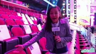 2017 Kids' Choice Awards Seat Card Tour with Breanna Yde | CELEB SECRETS