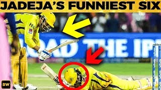 Dhoni Hits Jadeja in Helmet!  Funny Moments in CSK vs RR Match | IPL 2019
