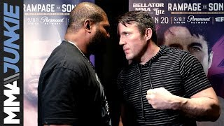 Quinton Jackson and Chael Sonnen face off in Los Angeles