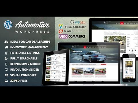 Automotive car dealership business wordpress