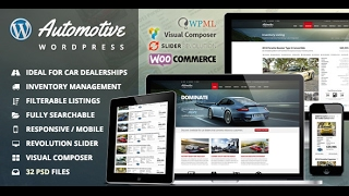 Automotive Car Dealership Wordpress Theme Review & Demo | Business WordPress Theme | Automotive Car Dealership Price & How to Install