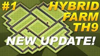 Clash Of Clans *NEW UPDATE* BEST Town Hall 9 (TH9) Hybrid Farming Base! (CoC) Dark Elixir -Setup #1