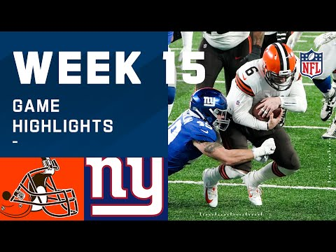 Browns vs. Giants Week 15 Highlights | NFL 2020