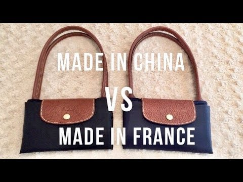 Longchamp Le Pliage Made in China vs Made in France - Comparison
