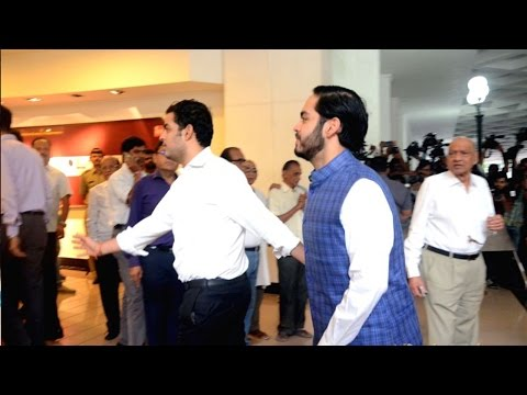 Mukesh Ambani Son's Akash Ambani And Anant Ambani At Vinod Khanna Prayer Meet