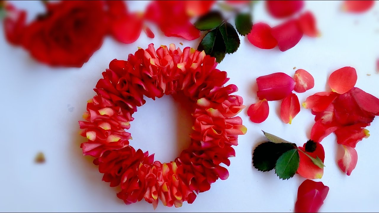 How To String Rose Petals Garland Easy Method To Make Flower