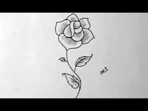 How to draw a beautiful rose flower in simple way with shading how to draw a beautiful rose flower in simple way with shading yzarts yzarts youtube mightylinksfo
