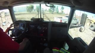 Ride in a Kenworth dump truck.