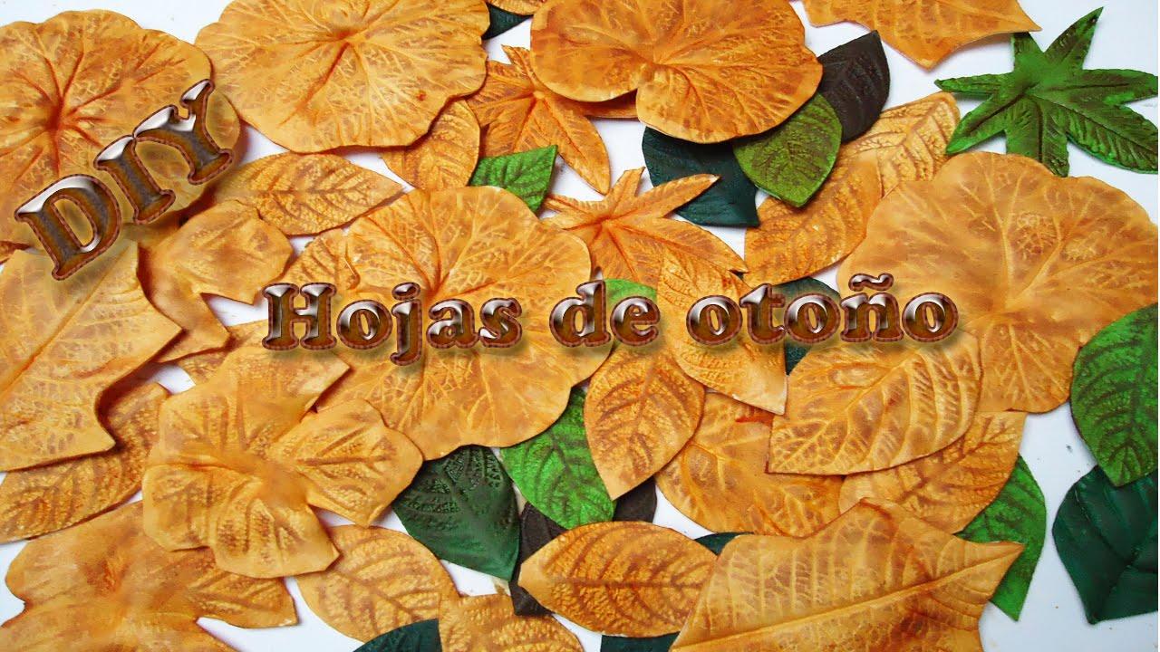 hojas de oto o hechas de foamy goma eva diy autumn