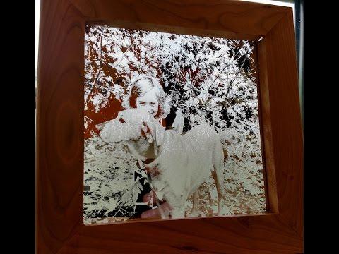 Glass Art & Frame on the Universal Laser Engraver