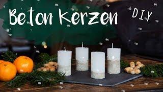 DIY Beton Kerzen - minimalistischer Adventskranz, Weihnachtsgeschenk Idee