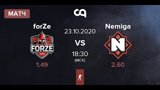 [RUS] forZe vs Nemiga - IEM New York 2020 CIS [22.10.2020]