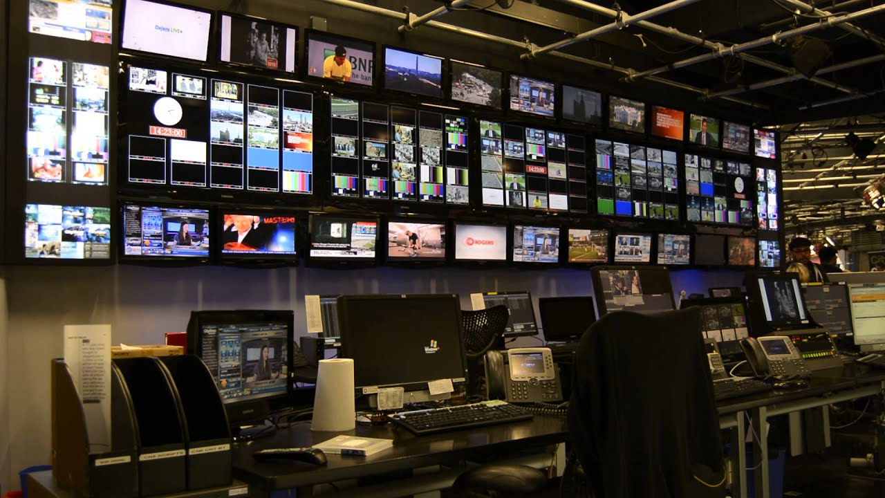 Hd Live Television Control Room Backdrop Studio Free Youtube