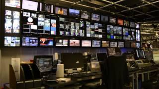 studio control television backdrop