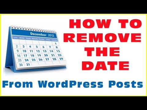 Removing The Date From WordPress Posts