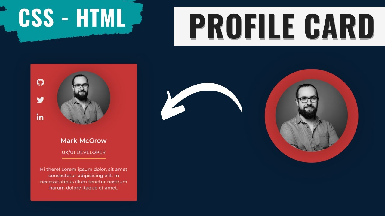 Animated Profile Card Using HTML and CSS